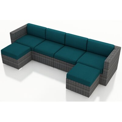 Gerron 6 Piece Deep Seating Group with Cushions Fabric: Spectrum Peacock