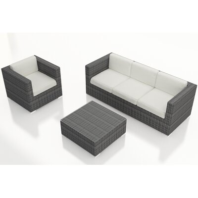 Gerron 3 Piece Deep Seating Group with Cushions Fabric: Canvas Natural