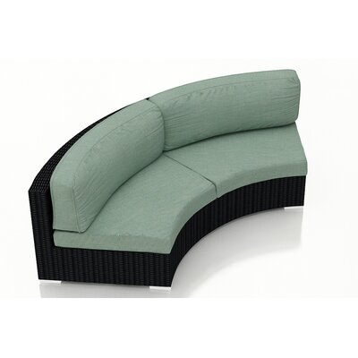 Eichhorn Loveseat with Cushions Fabric: Canvas Spa