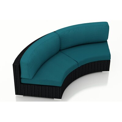 Urbana Loveseat with Cushions Fabric: Spectrum Peacock