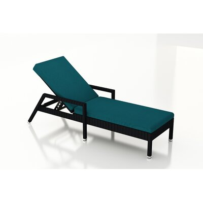 Eichhorn Chaise Lounge with Cushion Fabric: Spectrum Peacock