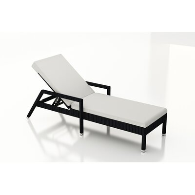 Eichhorn Chaise Lounge with Cushion Fabric: Canvas Natural