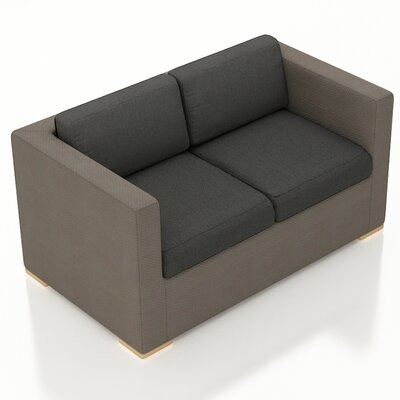 Element Loveseat with Cushions Fabric: Canvas Charcoal