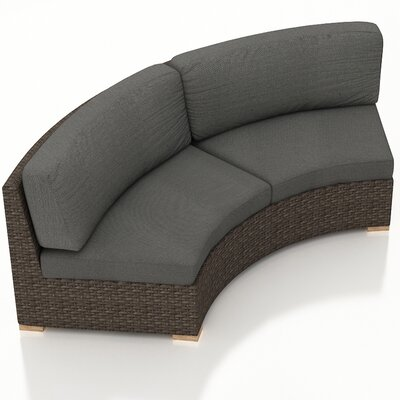 Arden Loveseat with Cushions Fabric: Canvas Charcoal