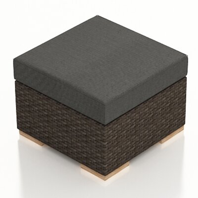 Arden Ottoman with Cushion Fabric: Canvas Charcoal