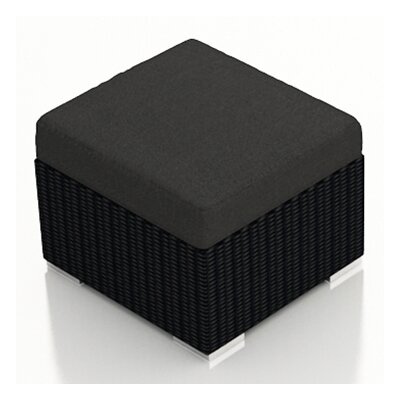 Urbana Ottoman with Cushion Fabric: Canvas Charcoal
