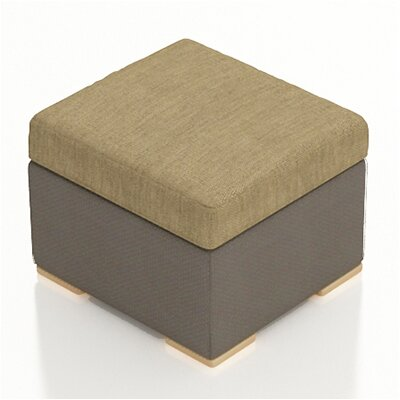Element Ottoman with Cushion Fabric: Heather Beige