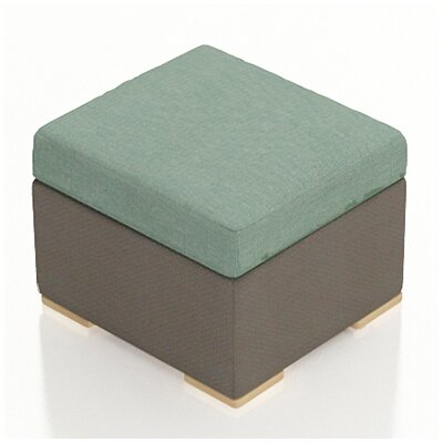 Element Ottoman with Cushion Fabric: Canvas Spa