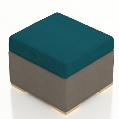 Element Ottoman with Cushion Fabric: Spectrum Peacock