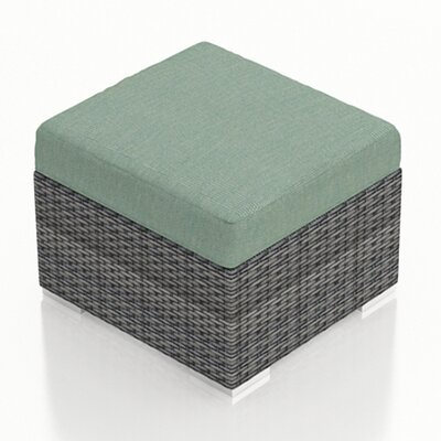 Gerron Ottoman with Cushion Fabric: Canvas Spa