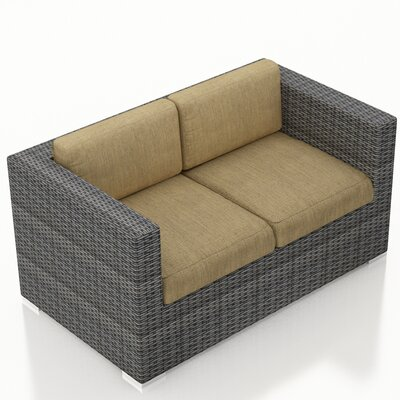 Gerron Loveseat with Cushions Fabric: Heather Beige