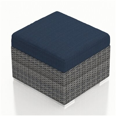 Gerron Ottoman with Cushion Fabric: Spectrum Indigo