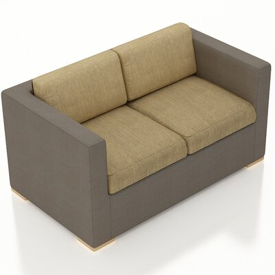 Element Loveseat with Cushions Fabric: Heather Beige