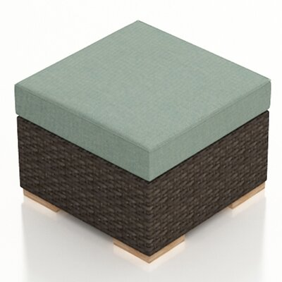 Arden Ottoman with Cushion Fabric: Canvas Spa