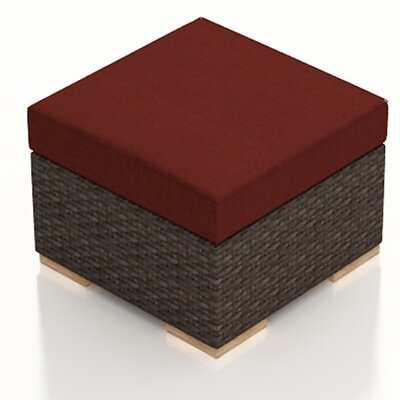Arden Ottoman with Cushion Fabric: Canvas Henna