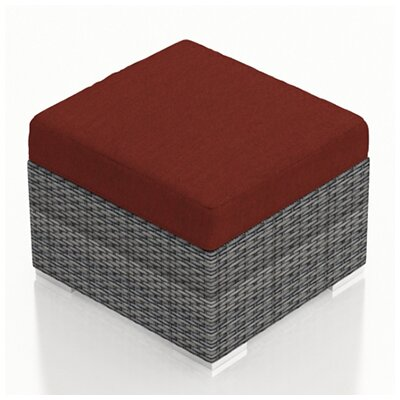 Gerron Ottoman with Cushion Fabric: Canvas Henna