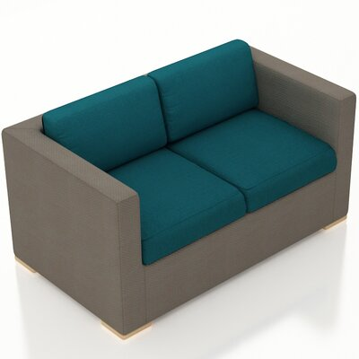 Element Loveseat with Cushions Fabric: Spectrum Peacock