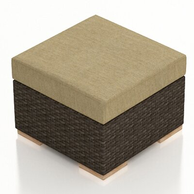 Arden Ottoman with Cushion Fabric: Heather Beige