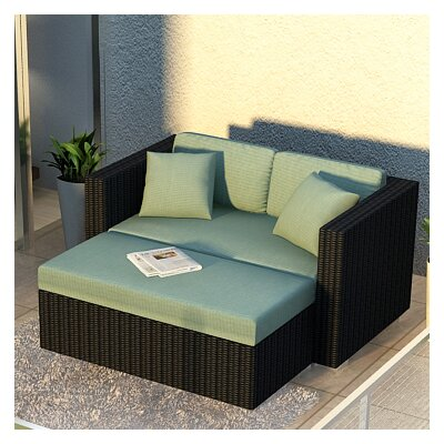Eichhorn 2 Piece Loveseat Set with Cushions Fabric: Canvas Spa