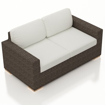 Arden Loveseat with Cushions Fabric: Canvas Natural