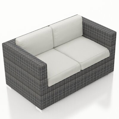 Gerron Loveseat with Cushions Fabric: Canvas Natural