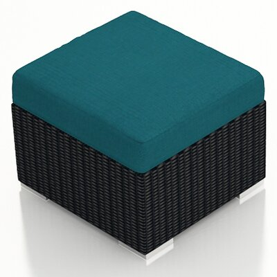 Eichhorn Ottoman with Cushion Fabric: Spectrum Peacock