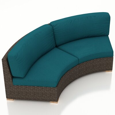 Arden Loveseat with Cushions Fabric: Spectrum Peacock
