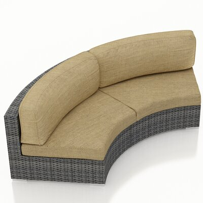 Gerron Sunbrella Loveseat with Cushions Fabric: Heather Beige