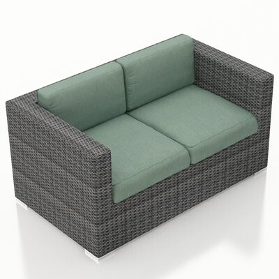 Gerron Loveseat with Cushions Fabric: Canvas Spa