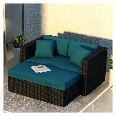 Eichhorn 2 Piece Loveseat Set with Cushions Fabric: Spectrum Peacock