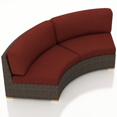 Arden Loveseat with Cushions Fabric: Canvas Henna