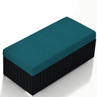 Eichhorn Double Ottoman with Cushion Fabric: Spectrum Peacock