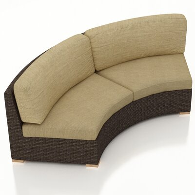 Arden Loveseat with Cushions Fabric: Heather Beige