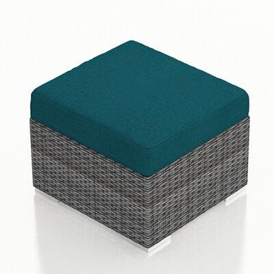 Gerron Ottoman with Cushion Fabric: Spectrum Peacock