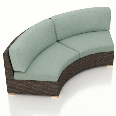 Arden Loveseat with Cushions Fabric: Canvas Spa