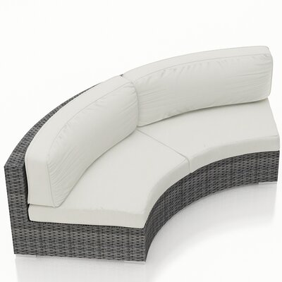 District Loveseat with Cushions Fabric: Canvas Natural