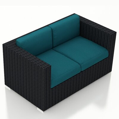 Eichhorn Contemporary Loveseat with Cushions Fabric: Spectrum Peacock