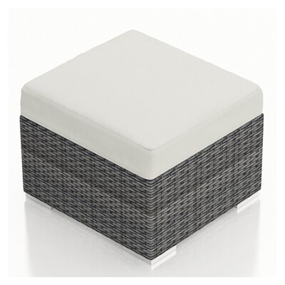 Gerron Ottoman with Cushion Fabric: Canvas Natural