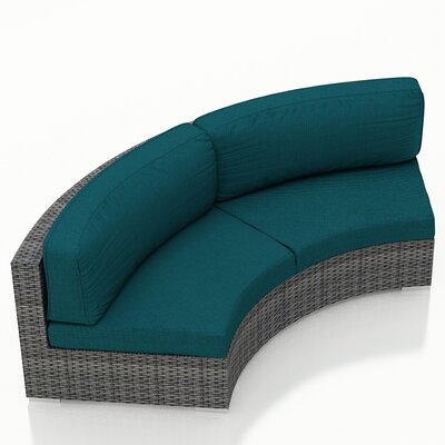 Gerron Sunbrella Loveseat with Cushions Fabric: Spectrum Peacock