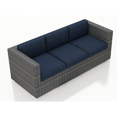 Gerron Sofa with Cushions Fabric: Spectrum Indigo