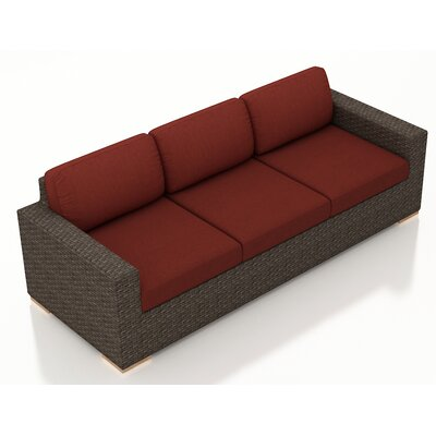 Arden Sofa with Cushions Fabric: Canvas Henna