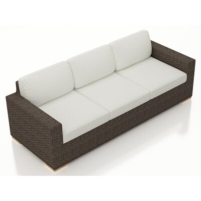 Arden Sofa with Cushions Fabric: Canvas Natural