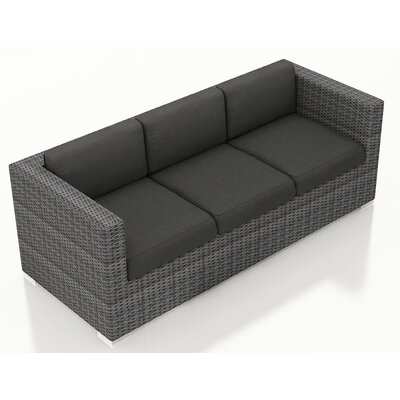 Gerron Sofa with Cushions Fabric: Canvas Charcoal