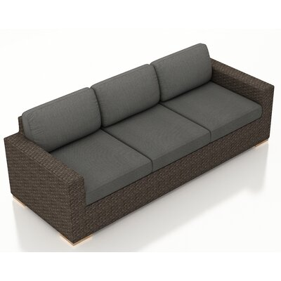 Arden Sofa with Cushions Fabric: Canvas Charcoal