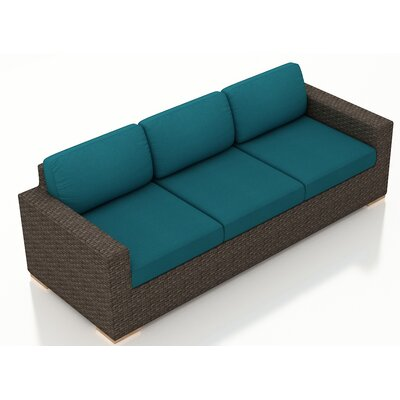 Arden Sofa with Cushions Fabric: Spectrum Peacock