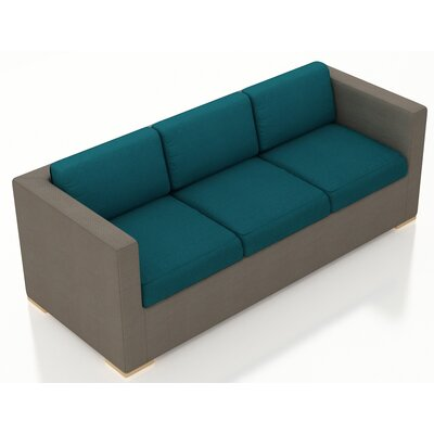 Element Sofa with Cushions Fabric: Spectrum Peacock