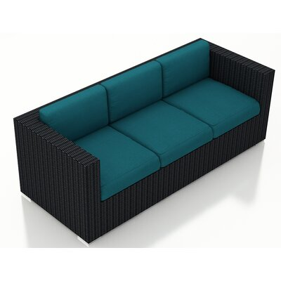 Eichhorn Sofa with Cushions Fabric: Spectrum Peacock