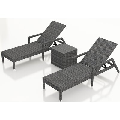 Gerron 3 Piece Chaise Lounge Set
