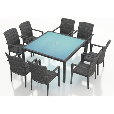Gerron 9 Piece Wicker Dining Set