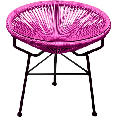 Ehrlich Side Table Finish: Ottoman Hot Pink / Black Frame